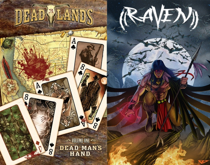 Dead Man's Hand Cover from IDW and Raven Cover