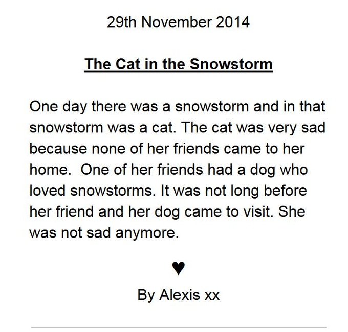 Help to write a short story