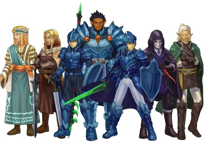 Several appearances of Elventales' characters.