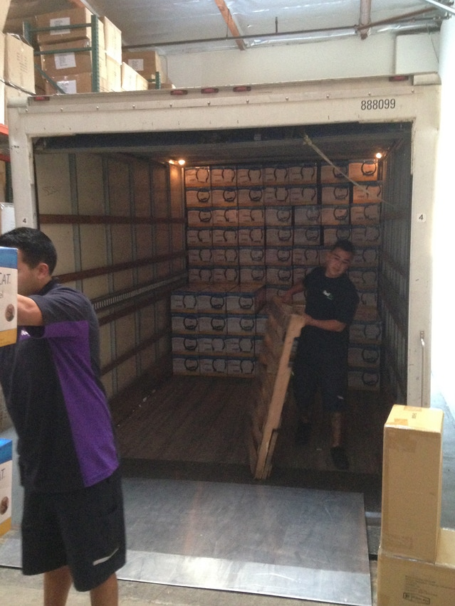 FedEx picking up the first batch of wheels on 1/13.