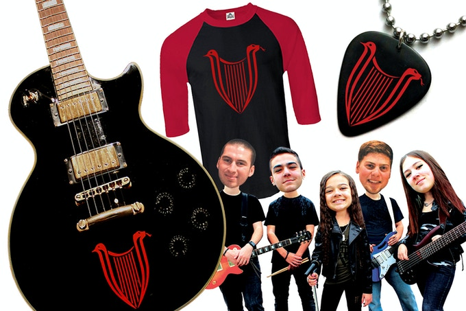 Rewards include signed guitars, old school rocker tees, custom pick necklaces and BOBBLEHEADS of the band, plus much more!! (Bobbleheads in this picture are just a photoshop rendering - the real ones will look a million times better, we promise!!)