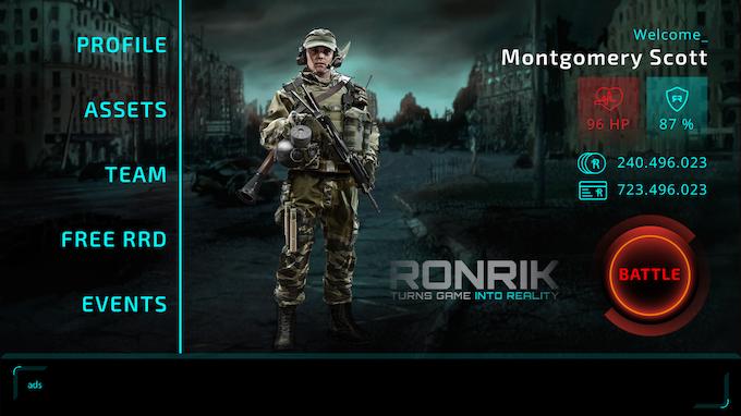 RonRik Home Screen
