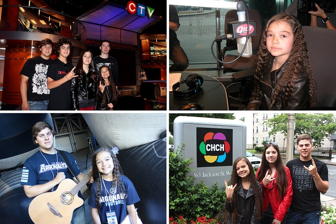 Motion Device has been on CTV, CHCHTV and made their radio debut on Q107 when Sara just turned 10 years old. They have also played for 30,000 people at the Rogers Centre.