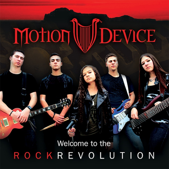 Motion Device's debut EP 'Welcome to the Rock Revolution' became reality thanks to their Kickstarter supporters in 2014.