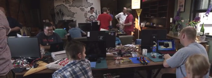 A room full of tinkerers, makers, and enthusiasts