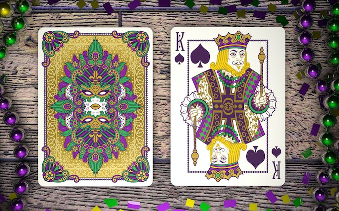 Beautifully illustrated court cards.