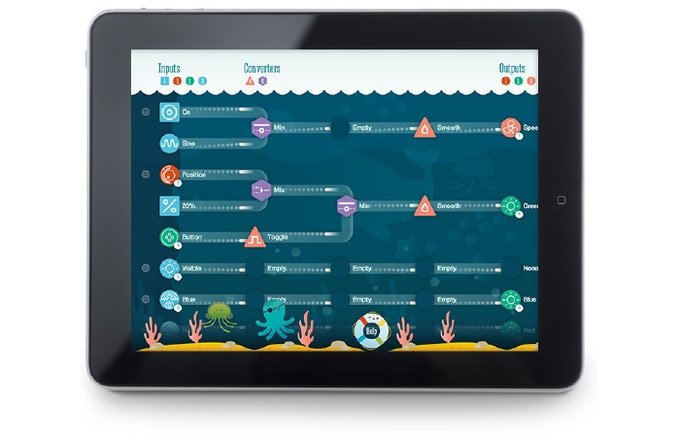 Rockpool running on an iPad