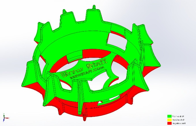 Draft Plot and Parting Line for Molding