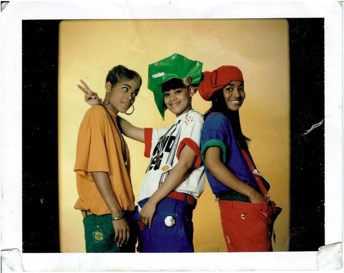 """""""This is the first album, when we were extra animated. Lisa wore that hat a lot. We look like crayola crayons! Someone could hang out with us in the wilderness cause there was no telling what we had in those pockets. You name it, we had it!"""""""
