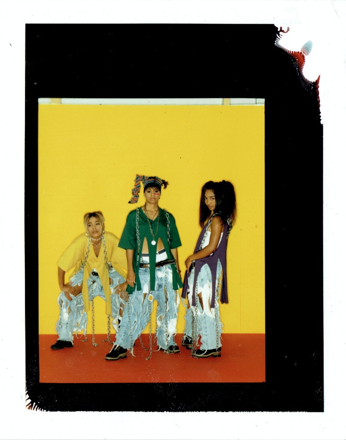 """""""This right here was from CrazySexyCool when you know we really started to embrace a more feminine tomboyish style .We ripped the jeans and we ripped the shirts all by ourselves."""""""
