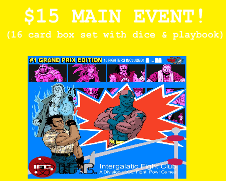 16 card box set with dice, playbook and story!