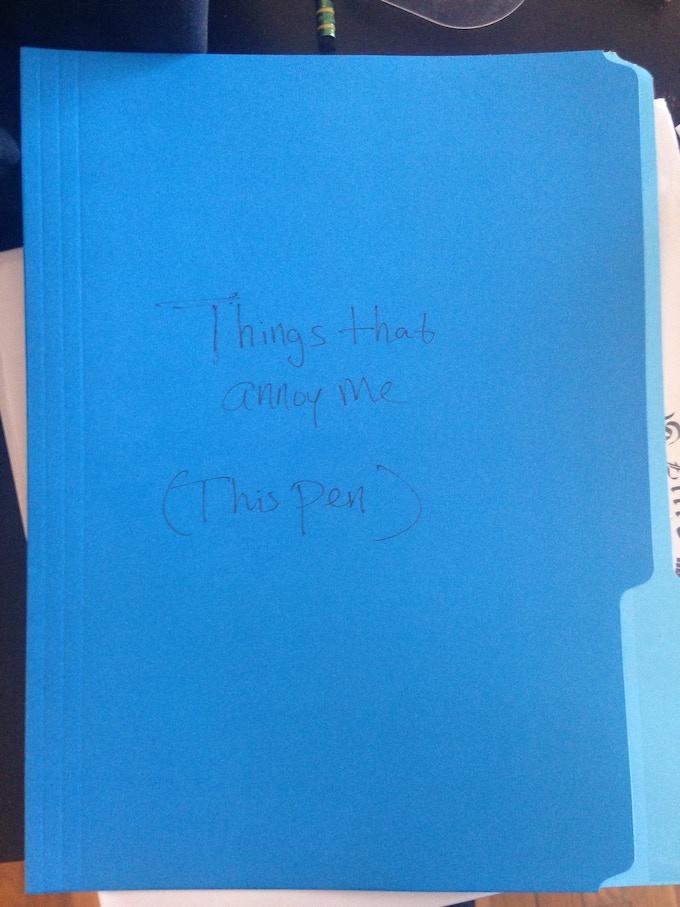Lydia has already started a folder!