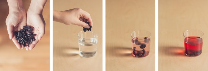Simply drop fruit in water.  It really is that easy.