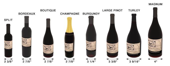 Standard wine bottle sizes