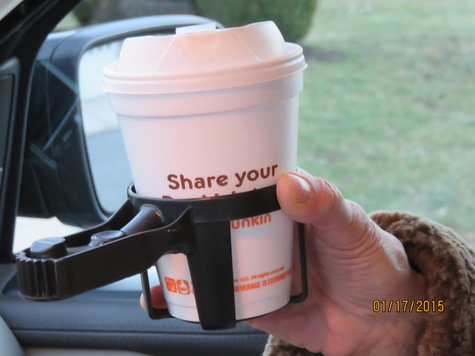 Hot cups, Sweaty bottles-no more. Protective rim and grip handle