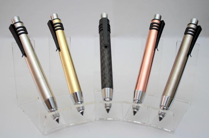 Aluminum, Brass, Carbon Fiber, Copper, and Titanium