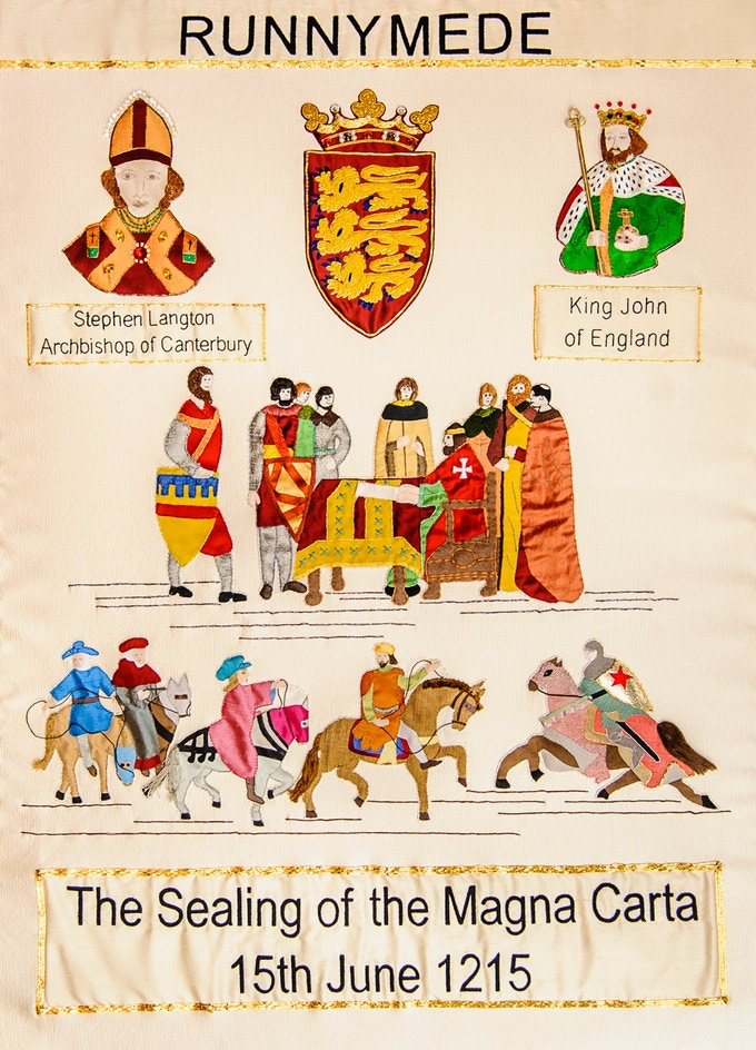 Magna Carta Runnymede Embroidery Panel