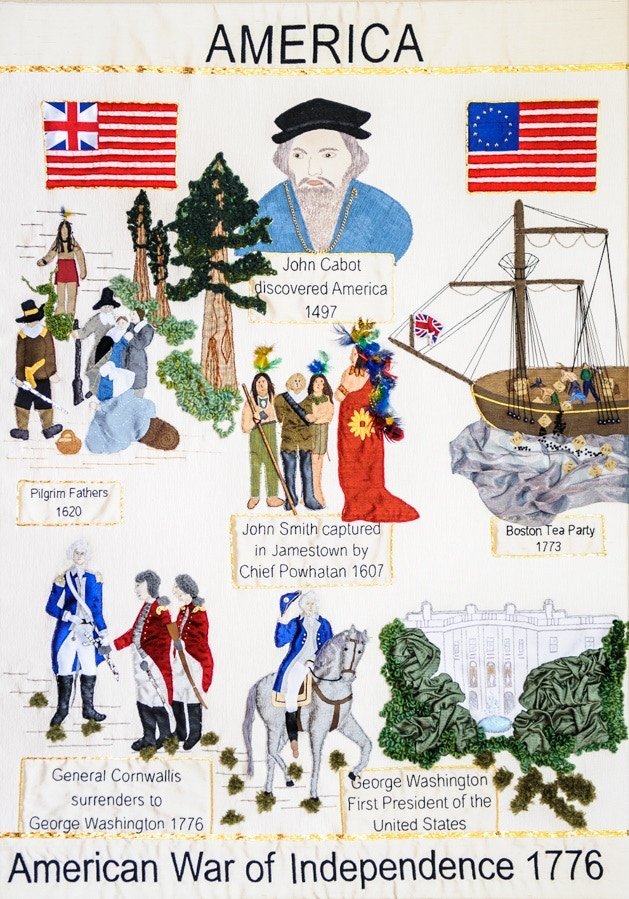Magna Carta Embroidery: America panel