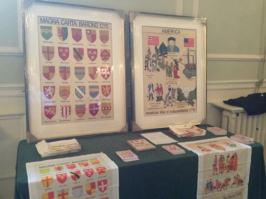 Magna Carta Embroidery project: Tea towels and framed embroideries