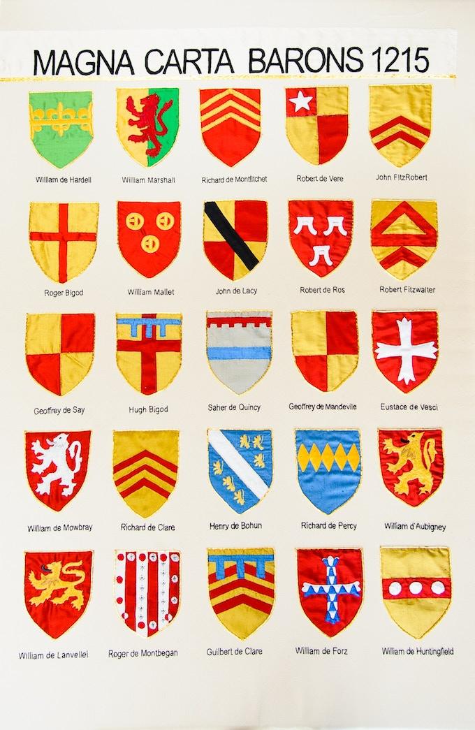 Magna Carta Embroidery: Barons panel