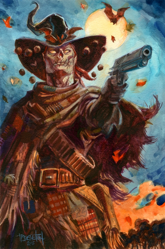 Gunwitch Watercolor Reward Art