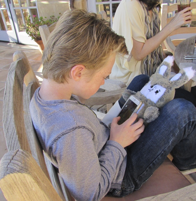 """""""Scout is my favorite…I like to play games on it and it's pretty cool how the phone sticks to the belly!""""  Owen, 8 yrs. old."""