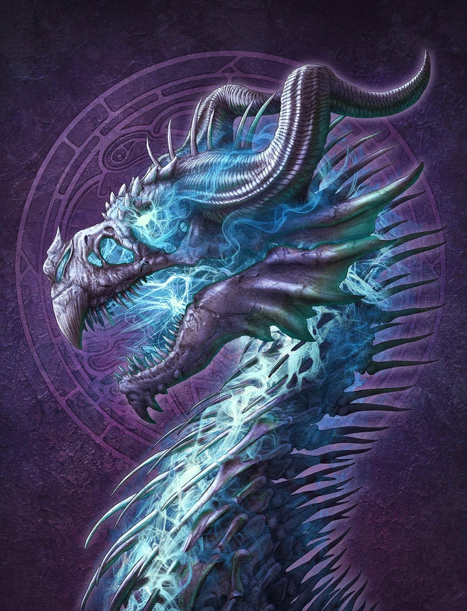 Undead Dragon (available on canvas only)