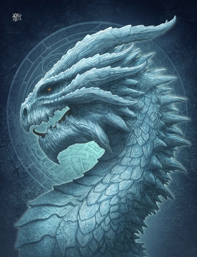 Ice Dragon (available on canvas only)
