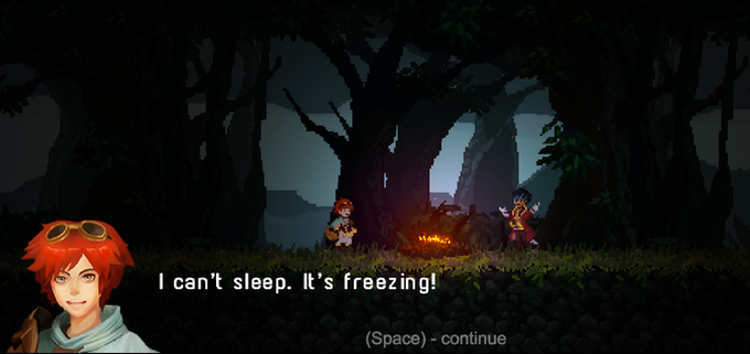 A campfire before the journey. To play the demo click here!