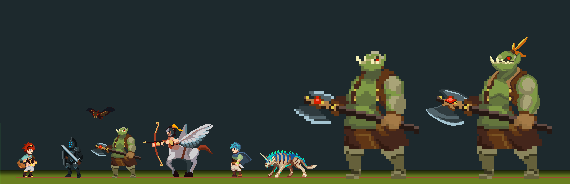 Suite of enemies currently in the game!