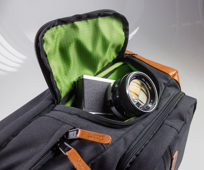 The quick access side door allows you to instantly grab your camera while  on the go