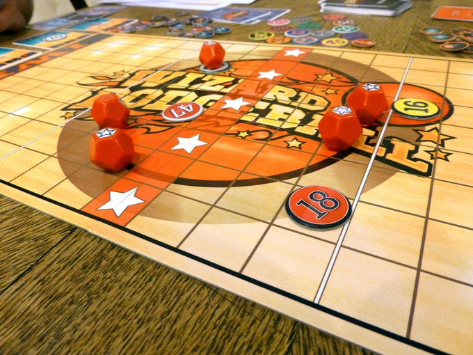 Game in progress (prototype components shown)
