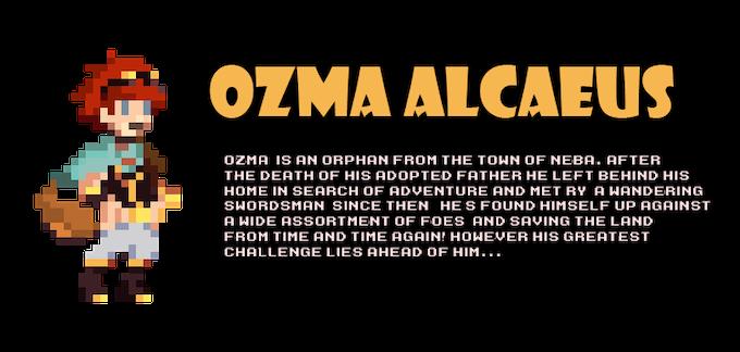 Ozma's bio sample from the Divinity's Playground Masterbook