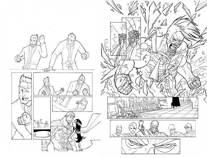 Issue #2 Original Inked Pages 1 and 2