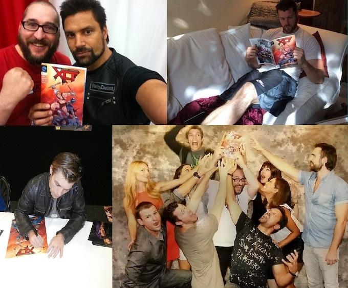 Spartacus Crew enjoying XCT & signing Items