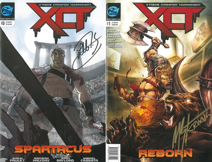 Signed Incentive Covers by Liam McIntyre & Manu Bennett
