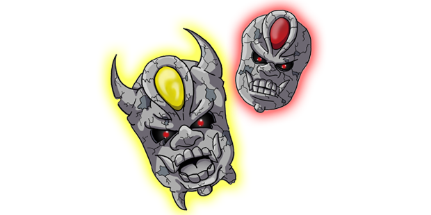 Steinmaskes are renowned for the mischief they cause. They appear as floating stone masks, but no two of which appear the exact same!