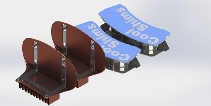 A rendering of CoolShims for the Subaru, Toyota and Scion