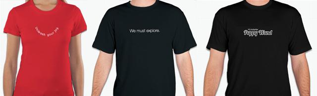 A: Unleash Your Joy B: We Must Explore C: Kickstarter Puppy Wand