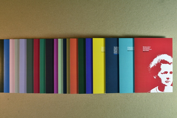 24 x A6 note cards, printed in a range of colours onto Zen by GF Smith.