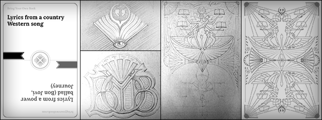 Explorations for new card face, logo, and card back designs.