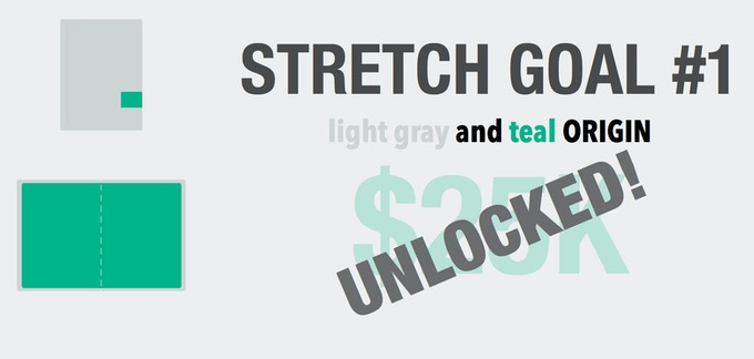 New Origin Color Option - Light Gray and Teal