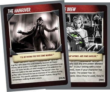 Two of the TWENTY promo cards you get as a backer!