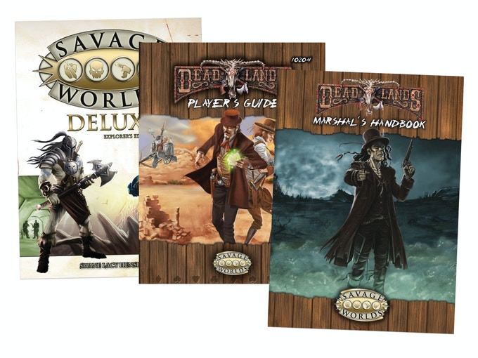 The core rule books for Deadlands, powered by Savage Worlds!