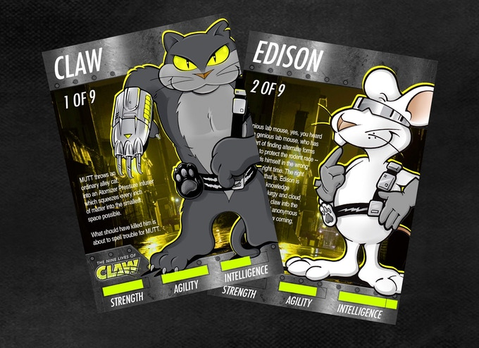 LIMITED EDITION CLAW AND EDISON CARDS (pre-production concept art)