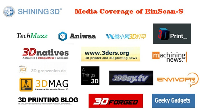 Media Coverage of EinScan-S 3D Scanner