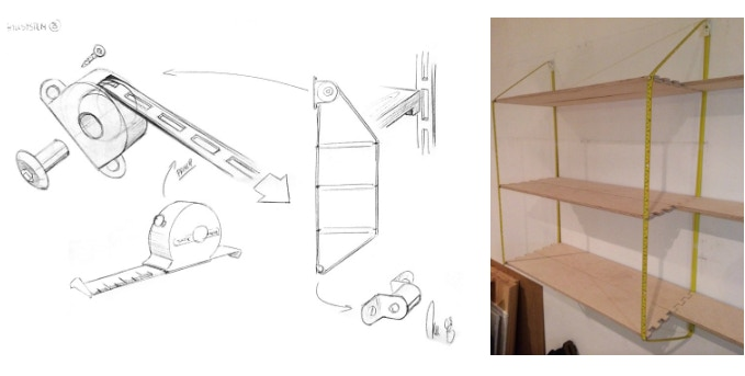 The first sketches and the first home built sample
