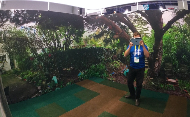 """CES visitors played inside our """"San Francisco Backyard"""" area, but the new demo works anywhere, even your living room."""
