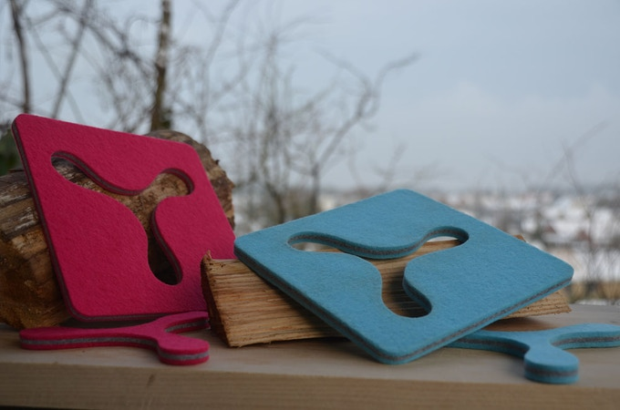 The colorful versions - (pink outside & turquoise outside)