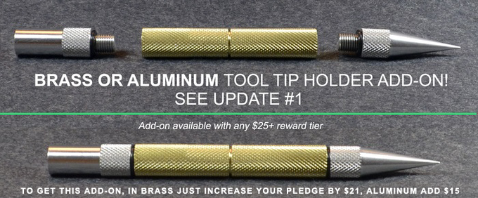 Add-On: Brass or Aluminum Tool Holder. See Update #1